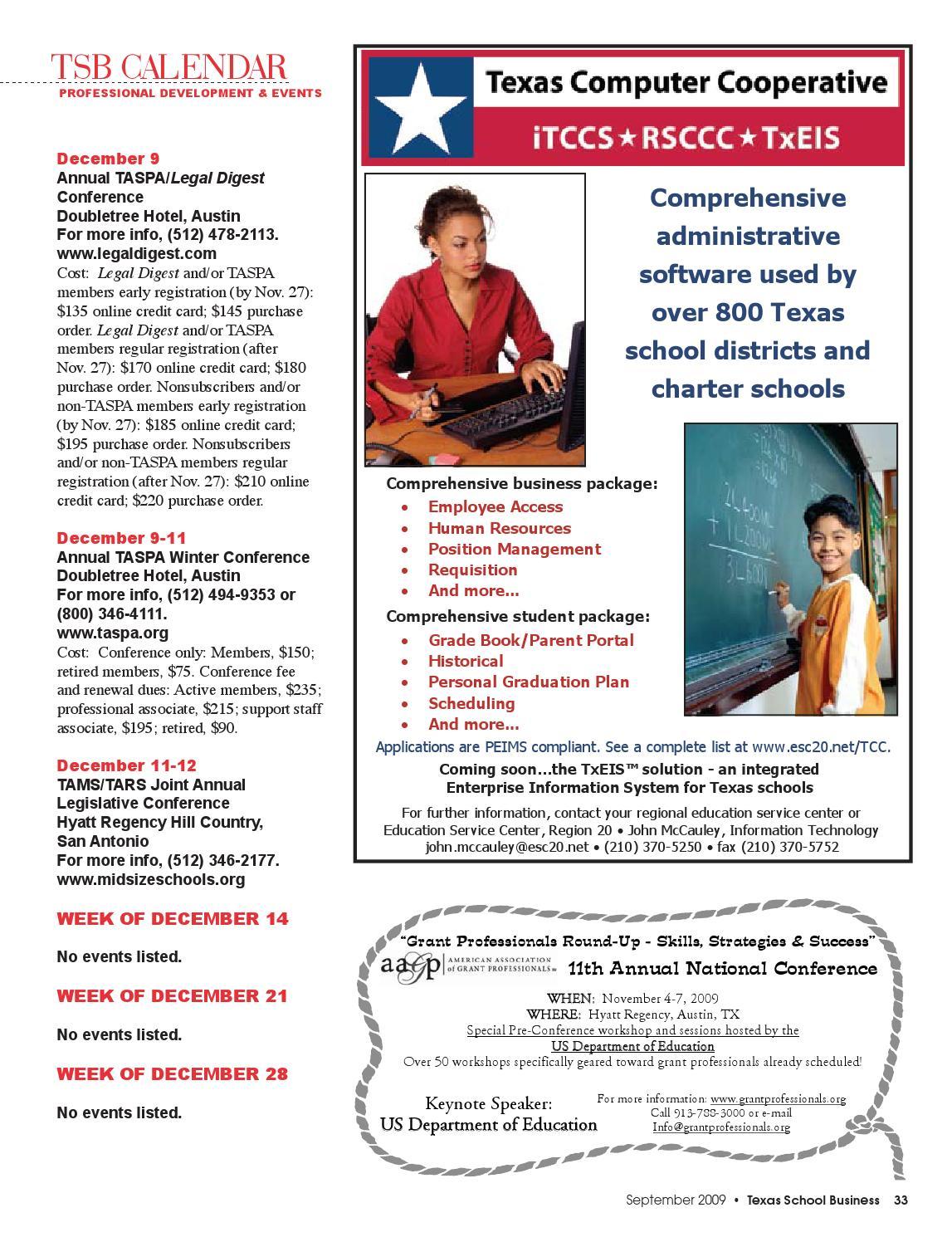 TSB—September 2009 by Texas Association of School