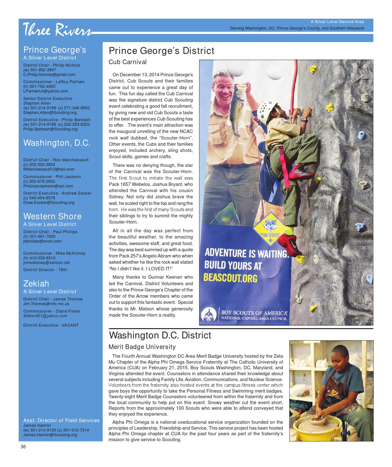 c332e339b3f2 The Scouter Digest - Spring 2015 by National Capital Area Council ...