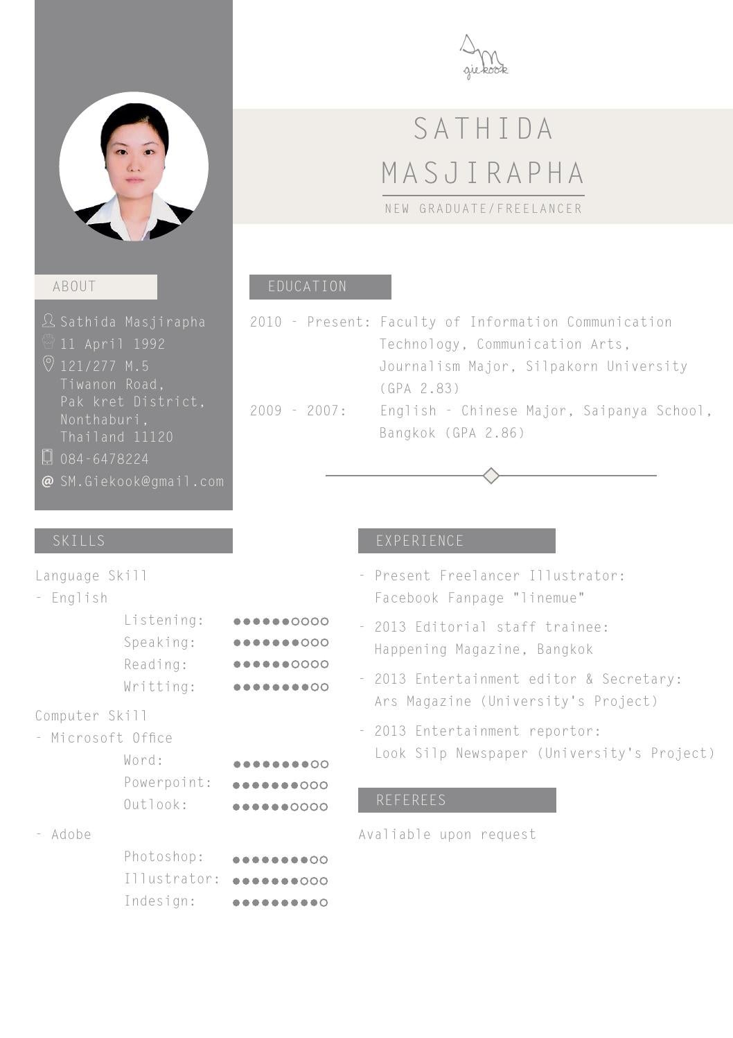 examples of professional resumes resume by giekook issuu 21620 | page 1