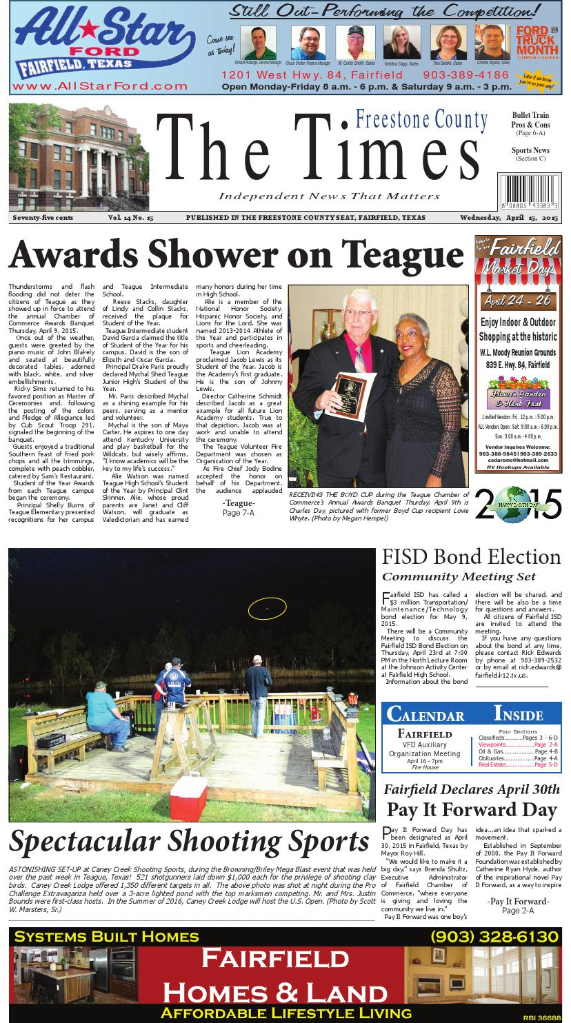Freestonecountytimes041515 by Karen Leidy - issuu
