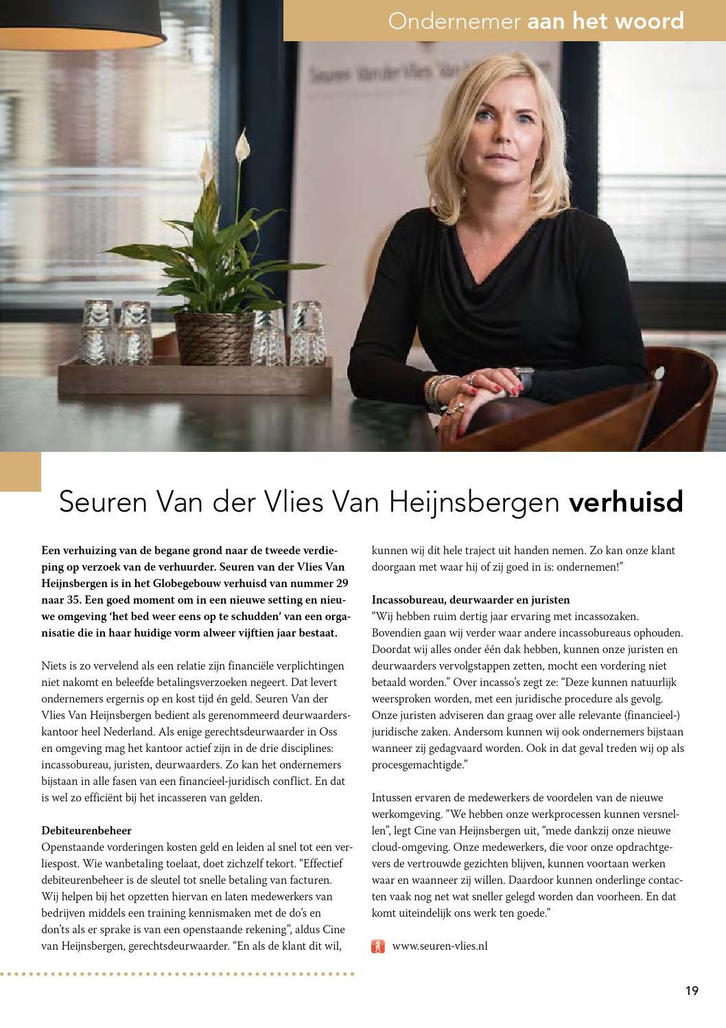 Seuren Van Der Vlies.Bedrijvig Oss Week 17 2015 By Uitgeverij Talvi Issuu