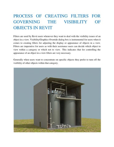 PROCESS OF CREATING FILTERS FOR GOVERNING THE VISIBILITY OF