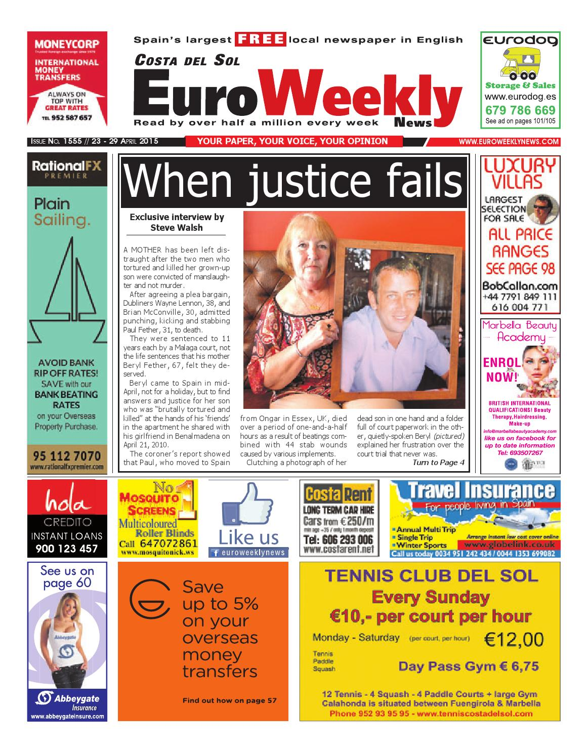 Euro weekly news costa del sol 23 29 april 2015 issue 1555 by euro weekly news costa del sol 23 29 april 2015 issue 1555 by euro weekly news media sa issuu fandeluxe Gallery