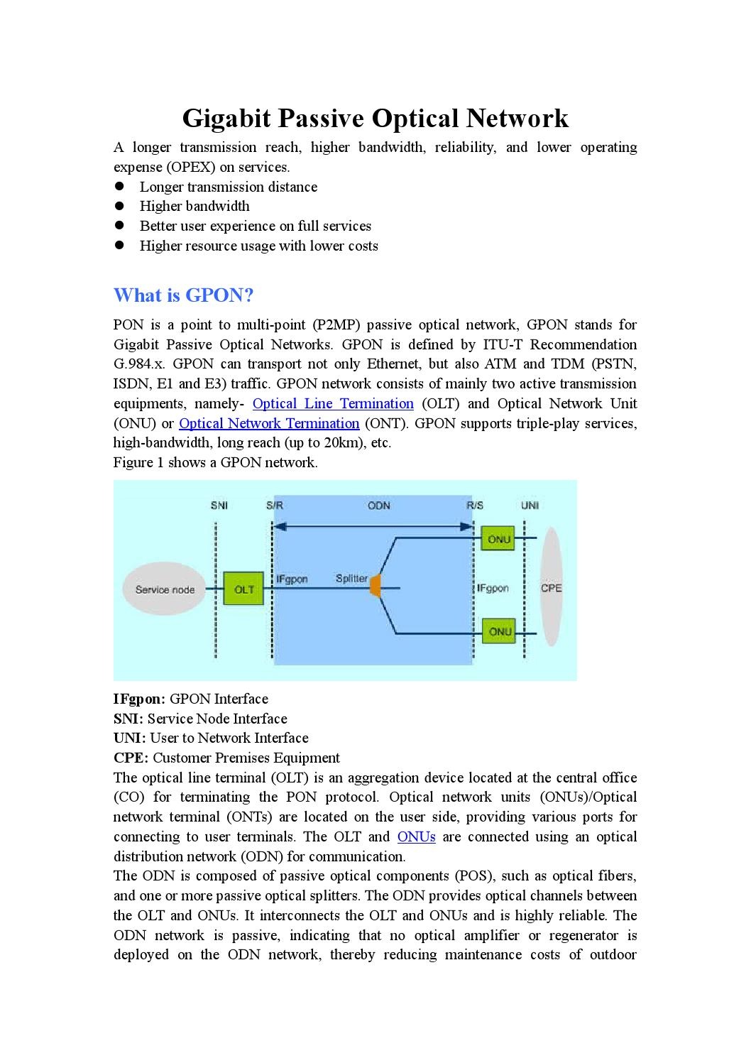 Ont, olt and mdu in gpon technology by huanetwork - issuu
