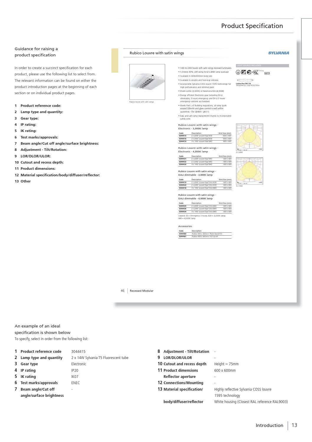 Catalogue sylvania 2013 2014