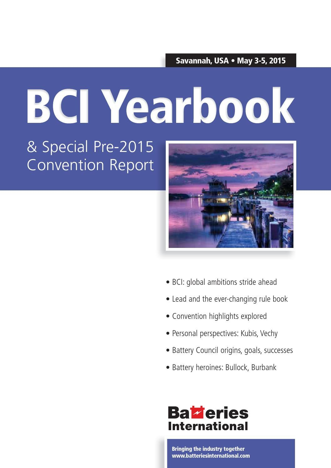 Bci Yearbook Amp Special Pre 2015 Convention Report By