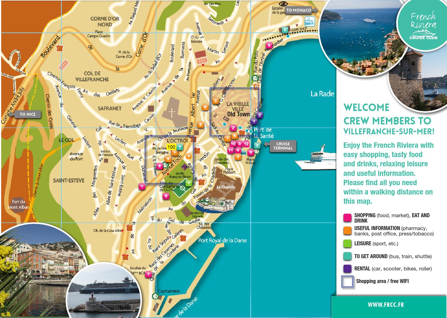 port of villefranche - tourist information guide for crew members by cci nice c u00f4te d u0026 39 azur