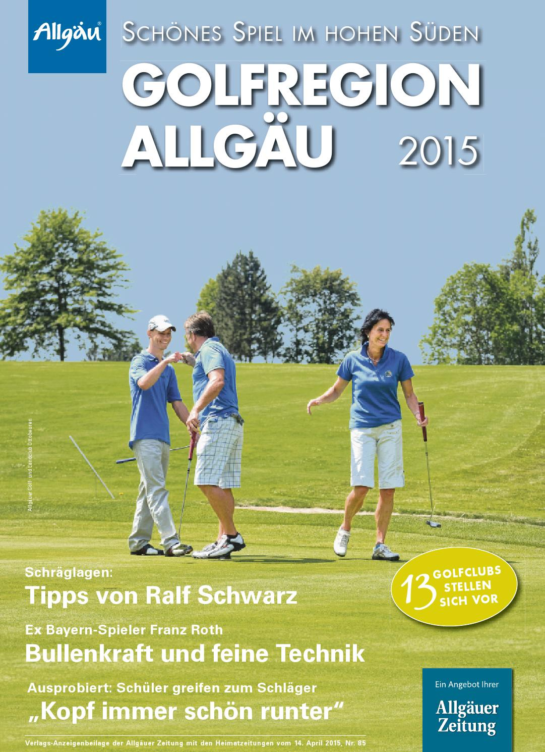Golfregion Allgäu 2015 by rta.design GmbH - issuu