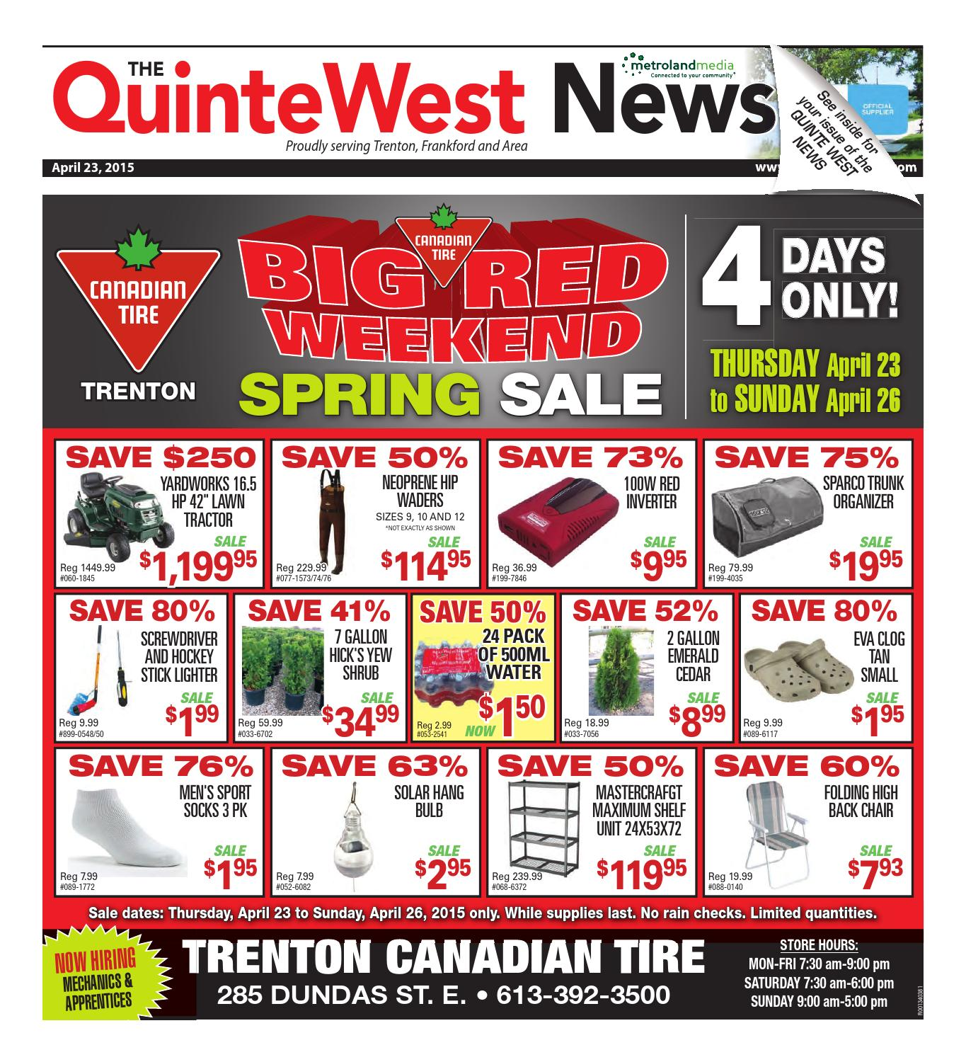Quinte042315 by Metroland East - Quinte West News - issuu