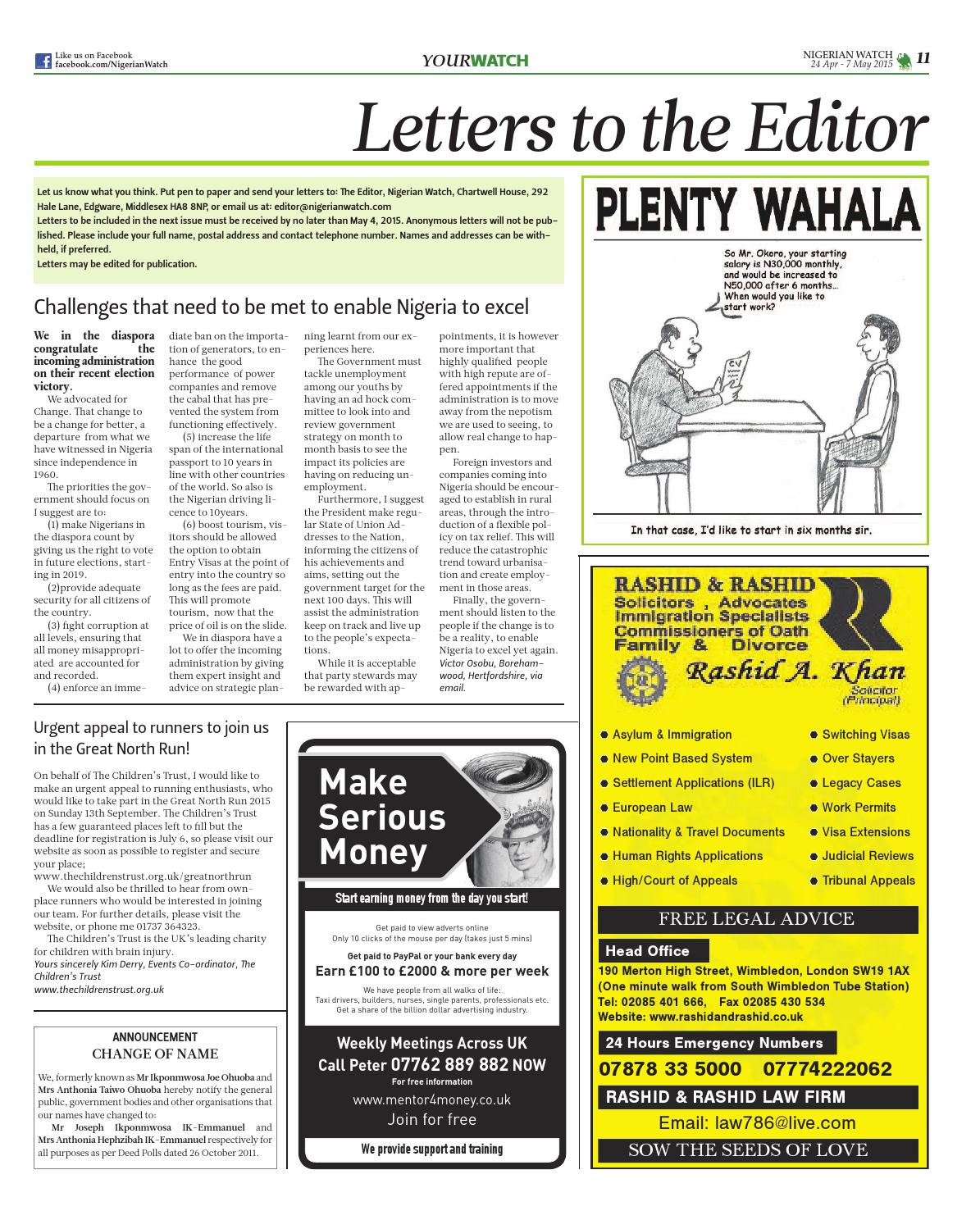 Nigerian Watch UK Newspaper by Health & Fitness Guru - issuu
