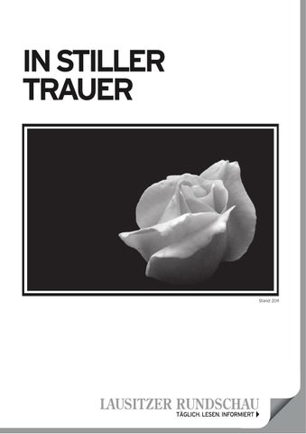 In Stiller Trauer By Lausitzer Rundschau Issuu