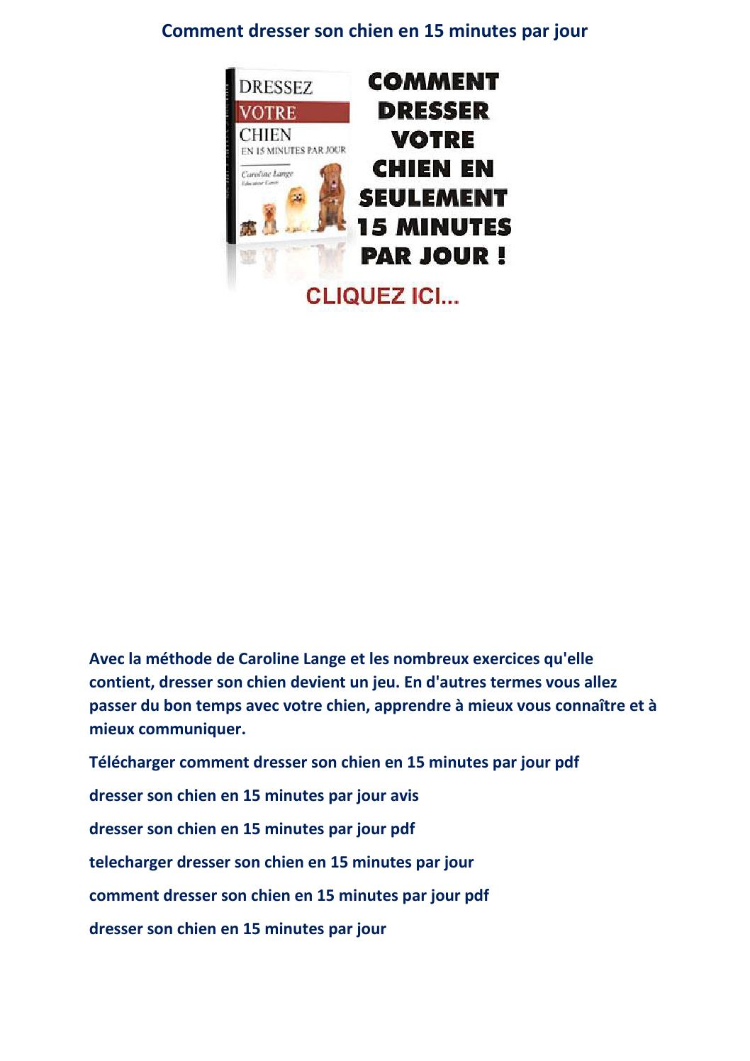 t u00e9l u00e9charger comment dresser son chien en 15 minutes par jour pdf livre avis gratuit ebook by