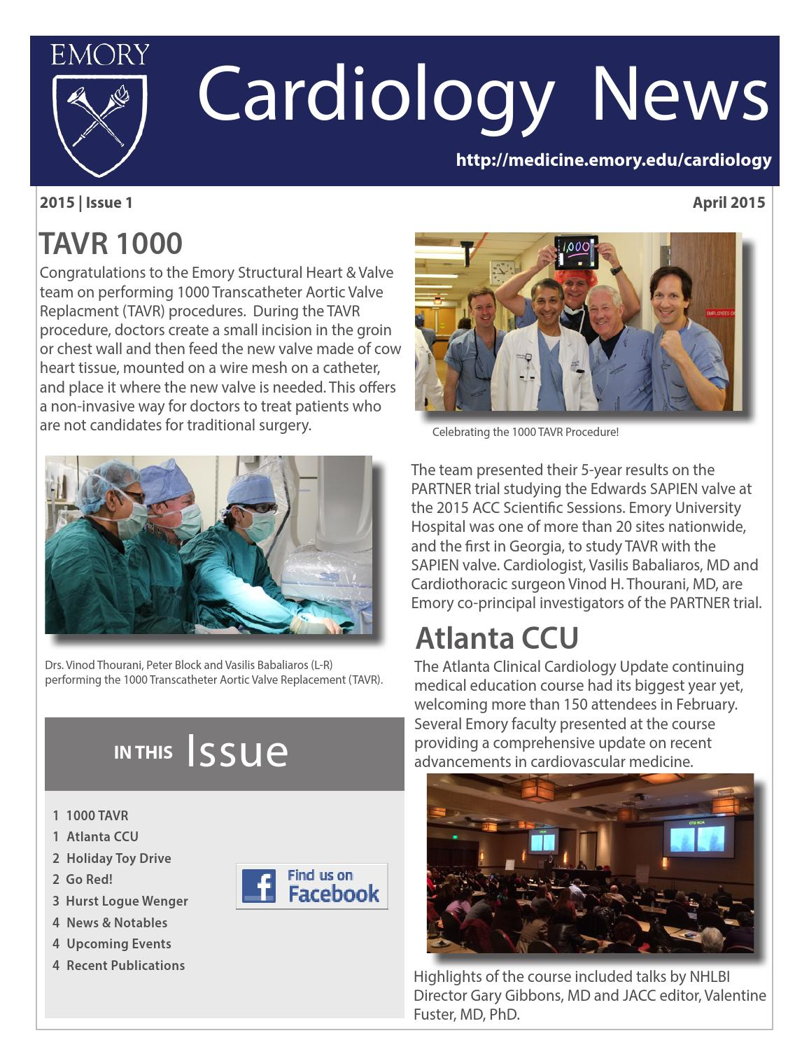 April 2015 Cardiology Newsletter by Emory Cardiology - issuu