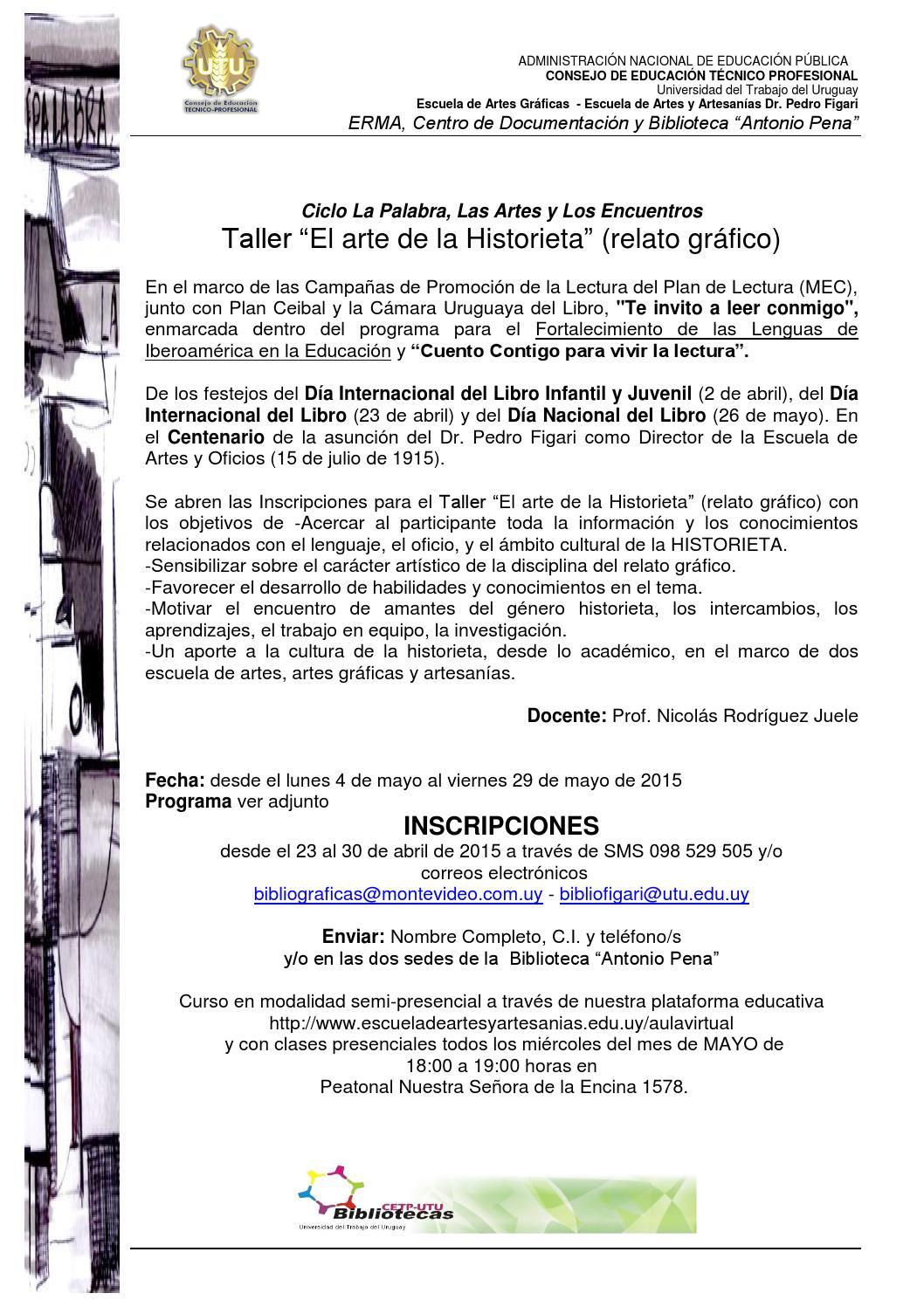 Programa el arte de la historieta by Antonio Biblioteca - issuu
