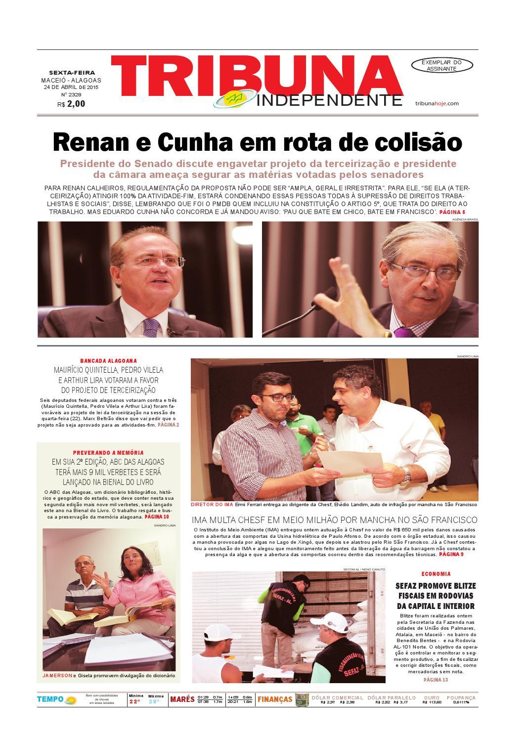 e17949af46f2c Edição número 2328 - 24 de abril de 2015 by Tribuna Hoje - issuu