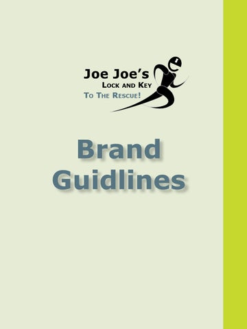 Joe Joe's Lock and Key Logo Guidelines by shahrzad - issuu