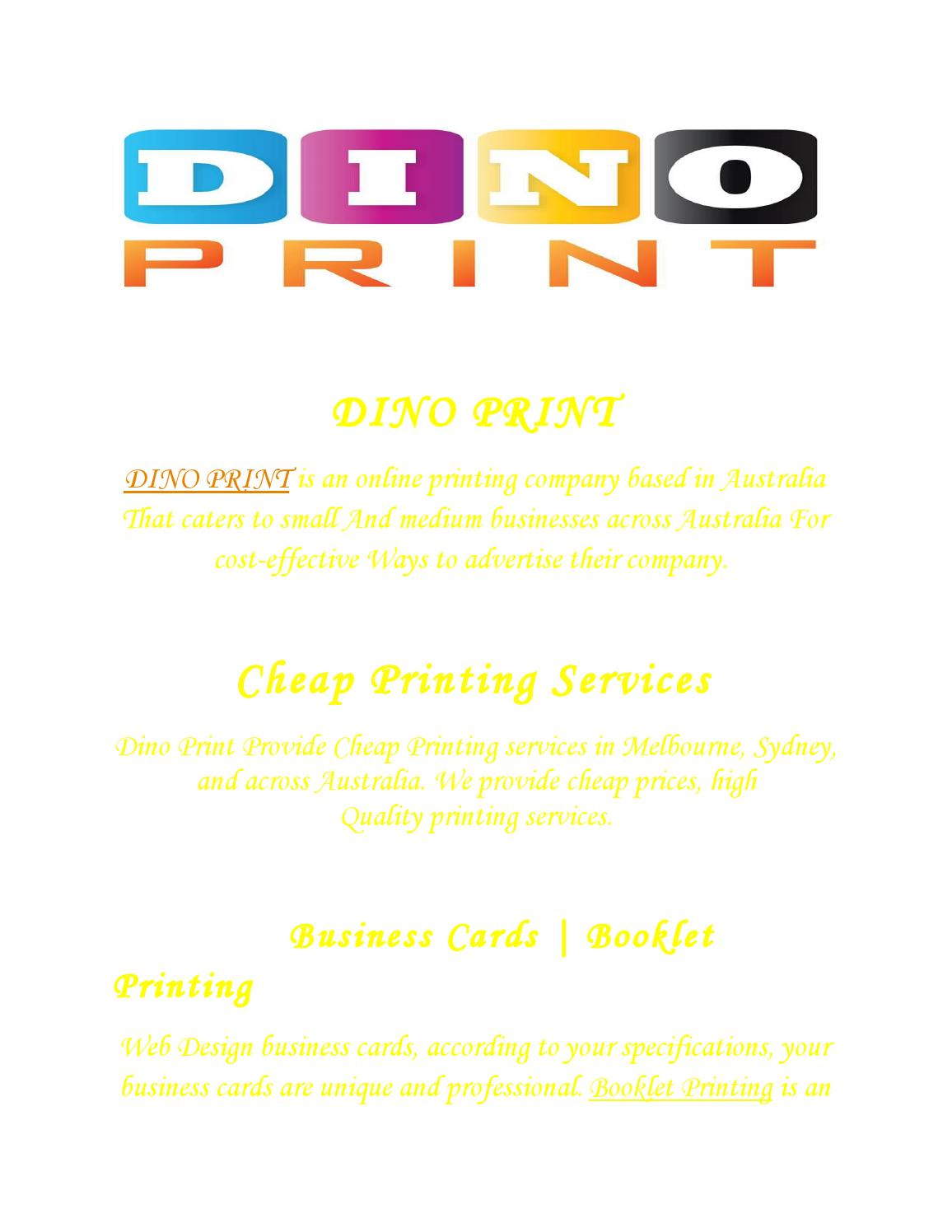 Business cards printing by dino print issuu reheart Images
