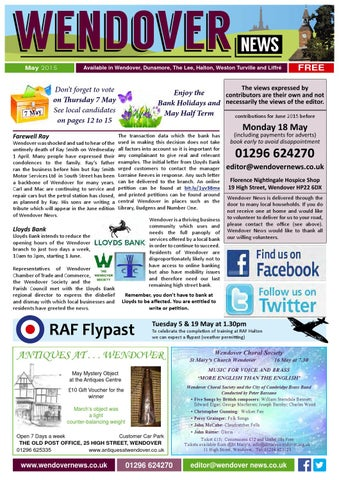 May 2015 Wendover News by Wendover News - issuu