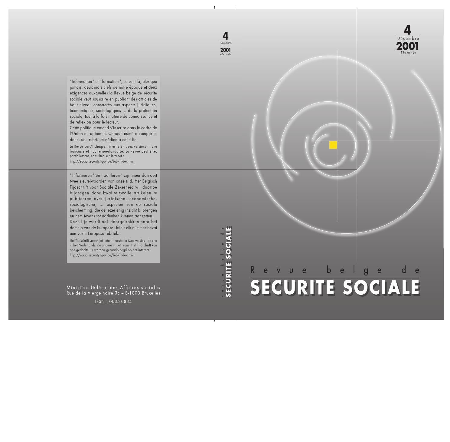 RBSS numéro 4 2001 by FPS Social Security - issuu 268c2ccc8743