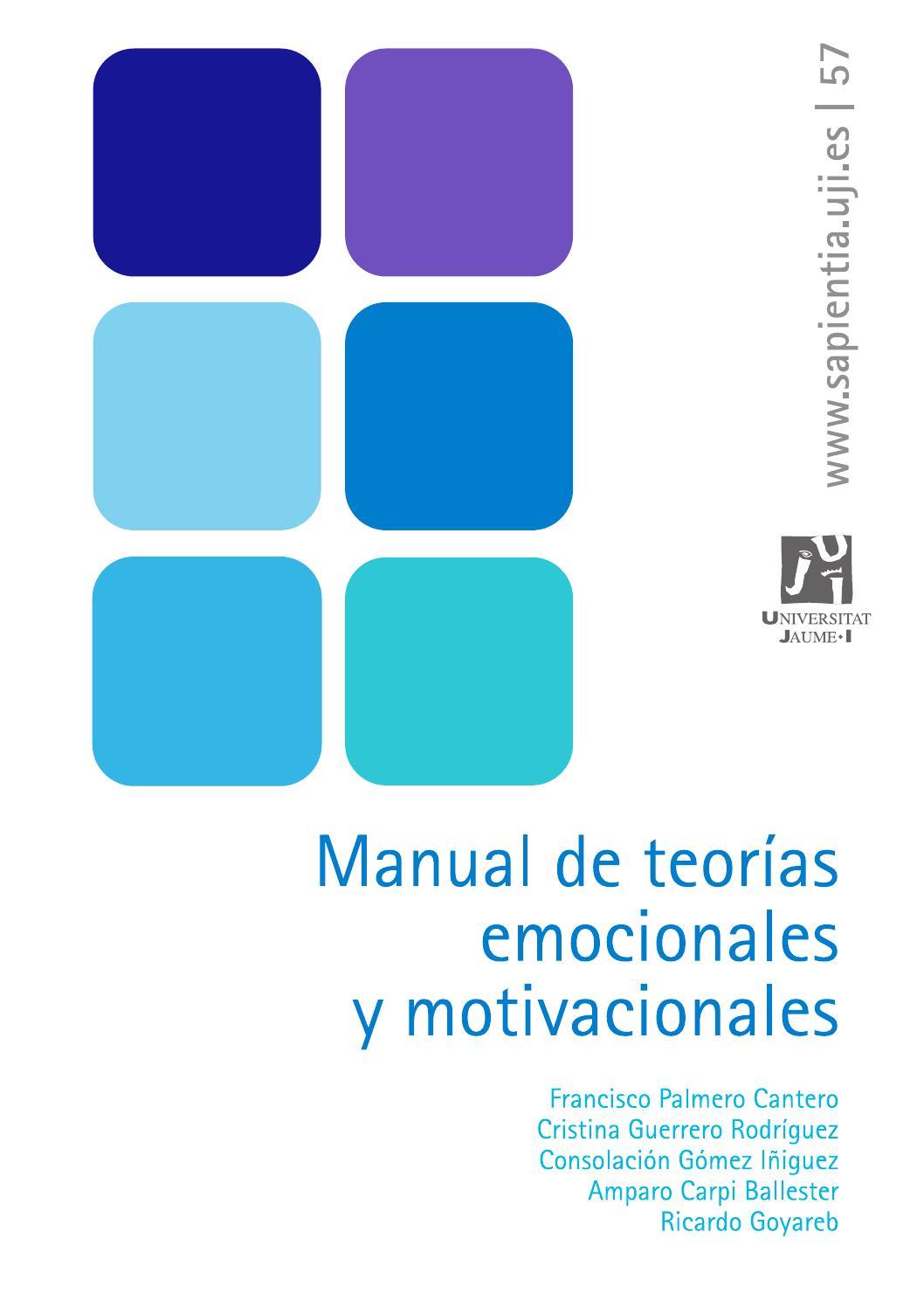 Manual De Teorías Emocionales Y Motivacionales By Eslibre