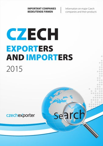 Czech Exporters and Importers catalog 2015 by Mediatel spol. s r.o. ...