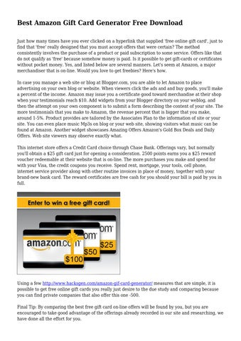 best amazon gift card generator free download by oldace7602 issuu