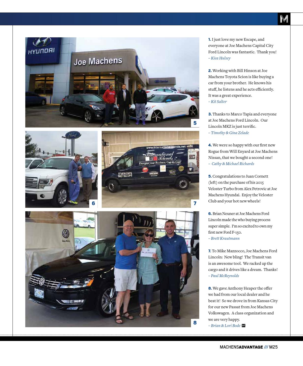 May 2015 Machens Advantage by Joe Machens Dealerships - issuu