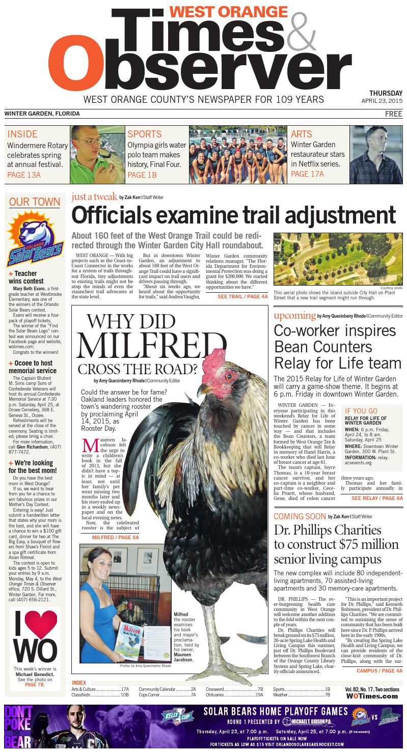 04 23 15 west orange times u0026 observer by orange observer issuu