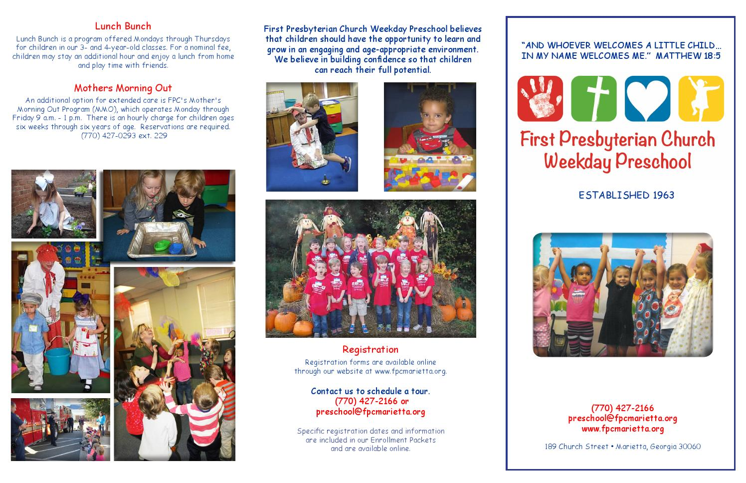 Preschool brochure by fpcmarietta - issuu