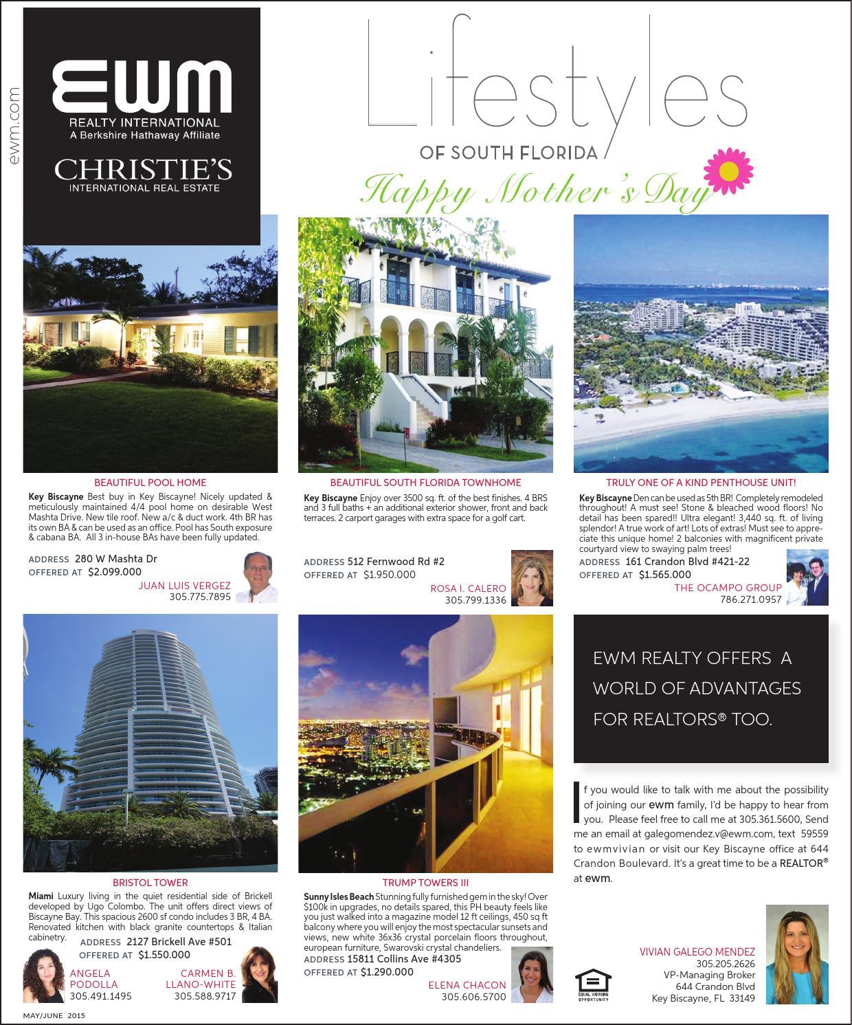 Key Biscayne Magazine May - June 2015 by EWM Realty - issuu