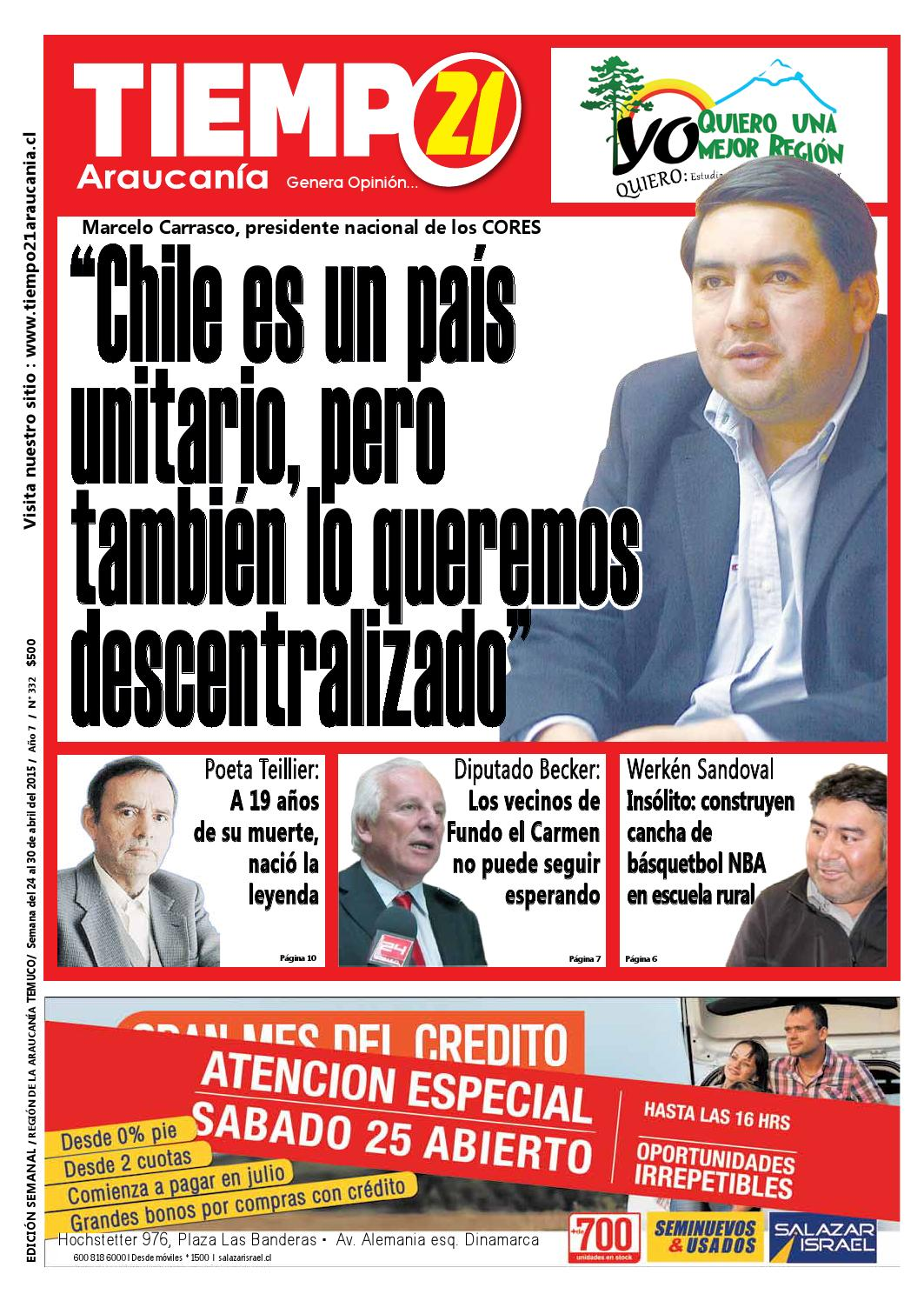 Edici N 332 Marcelo Carrasco Chile Es Un Pa S Unitario Pero  # Muebles Jouannet Temuco