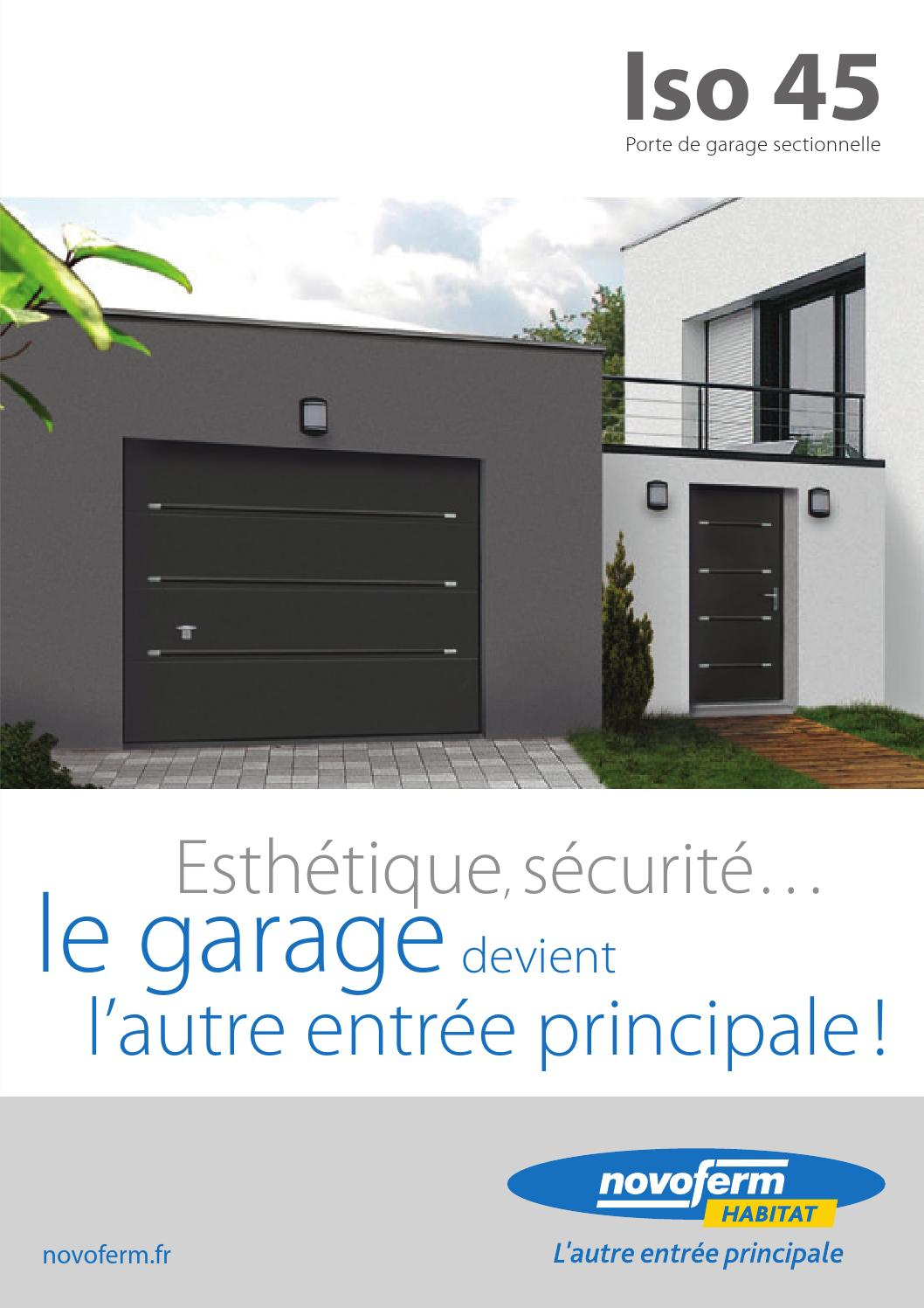 Porte de garage sectionnelle iso 45 by uwl wwp communication issuu - Porte sectionnelle novoferm ...