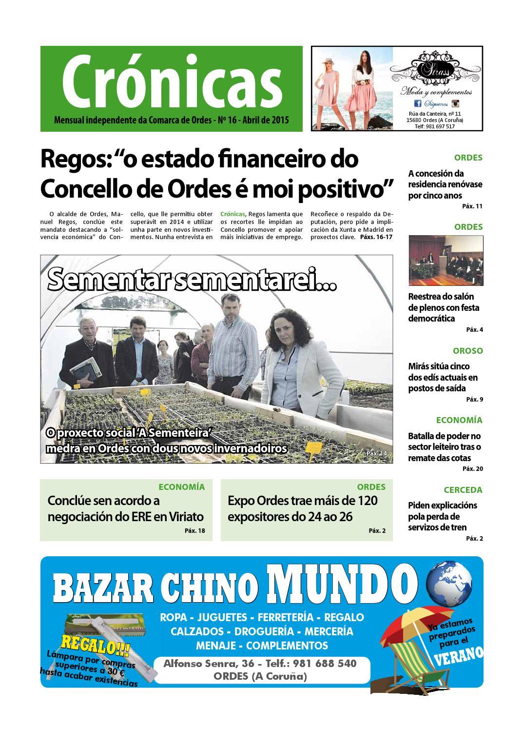 Cronicas Comarcadeordes N16 Abril2015 By Cr Nicas Peri Dico  # Muebles Visantona
