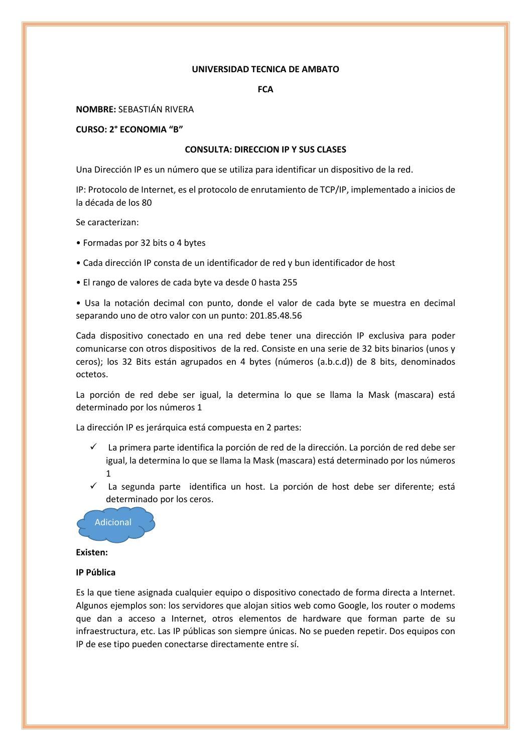 Ip y clases by Sebastián Rivera - issuu