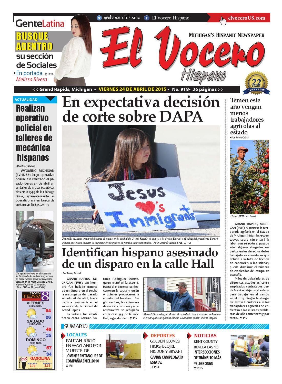 El Vocero Hispano 24 de Abril de 2015 by El Vocero Hispano - issuu