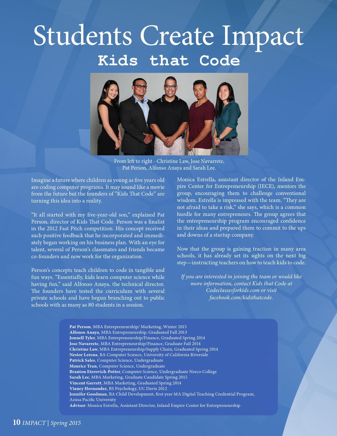 Impact Issue 2 - Spring 2015 by JHBC IMPACT Magazine - issuu