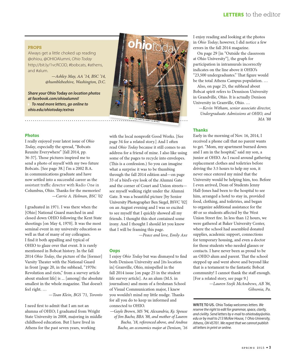 Ohio Today Spring 2015 by ohiotoday - issuu