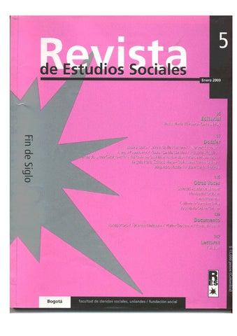 40734fa45 Revista de Estudios Sociales No. 5 by Publicaciones Faciso - issuu