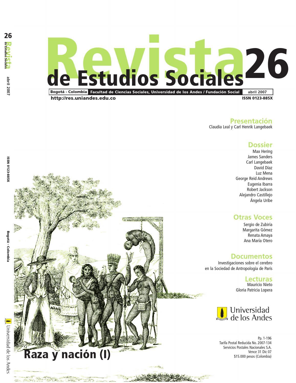 d64e5563f9dab Revista de Estudios Sociales No. 26 by Publicaciones Faciso - issuu