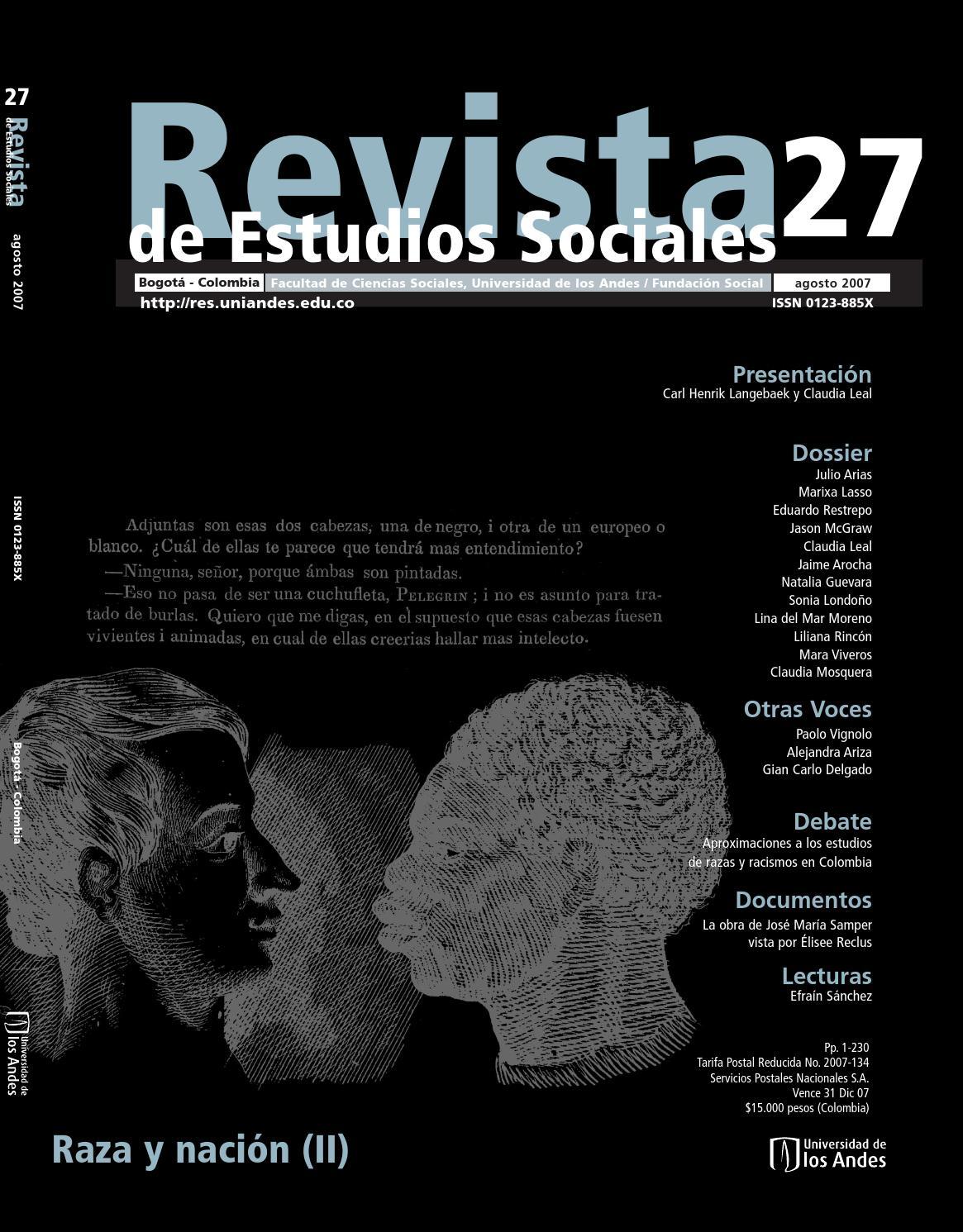 0c910bfa Revista de Estudios Sociales No. 27 by Publicaciones Faciso - issuu