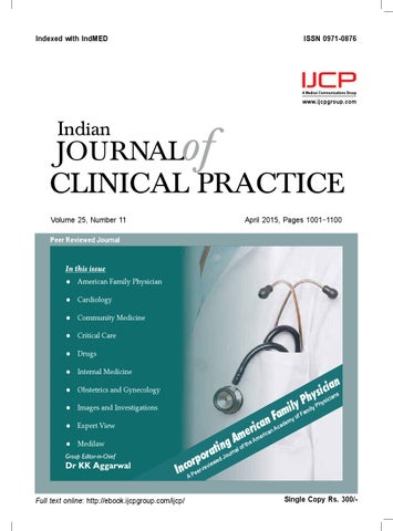 Indian journal of clinical practice april 2015 by IJCP - issuu