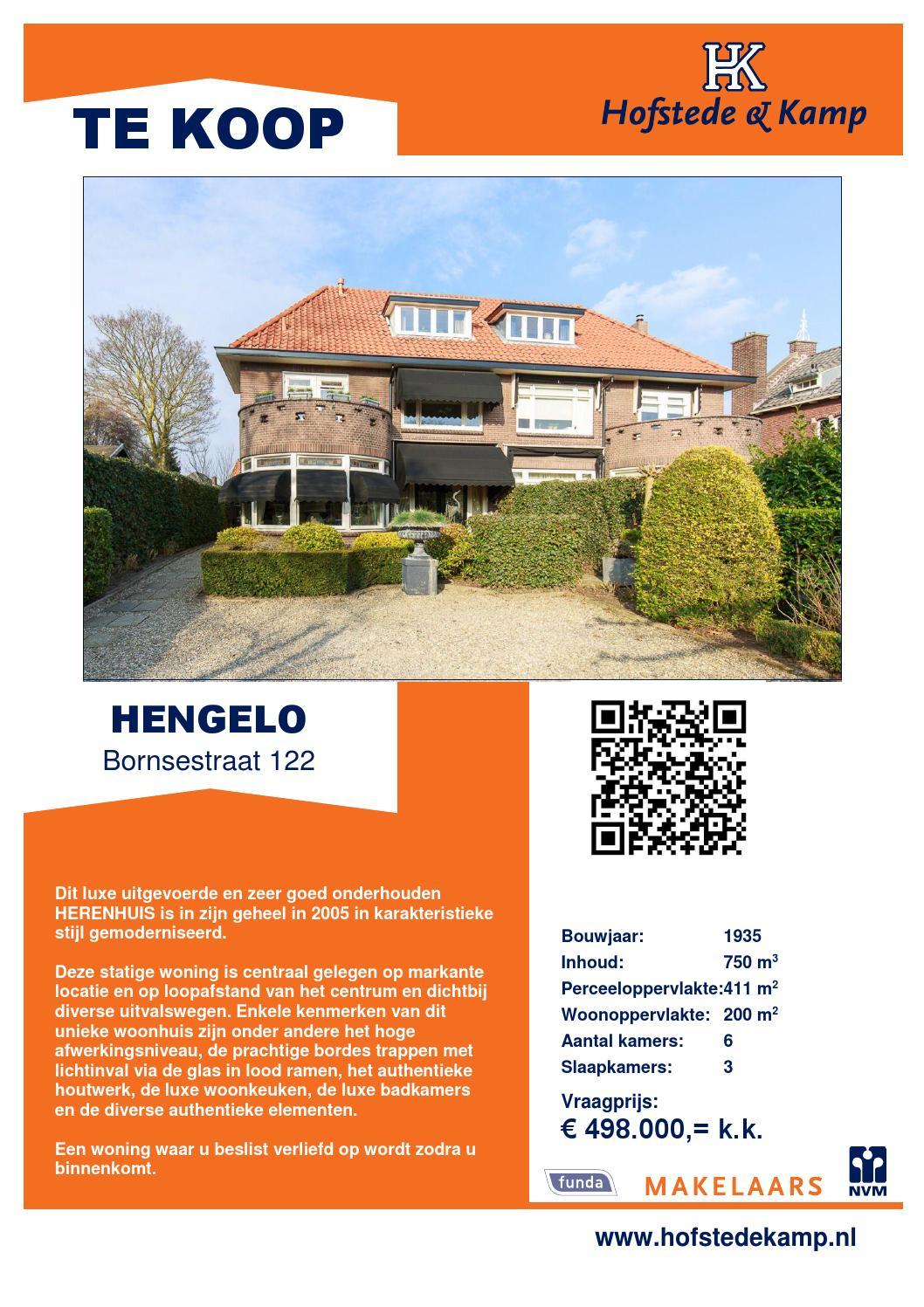 Brochure Bornsestraat 122 Hengelo By Hofstede Kamp Makelaars Issuu