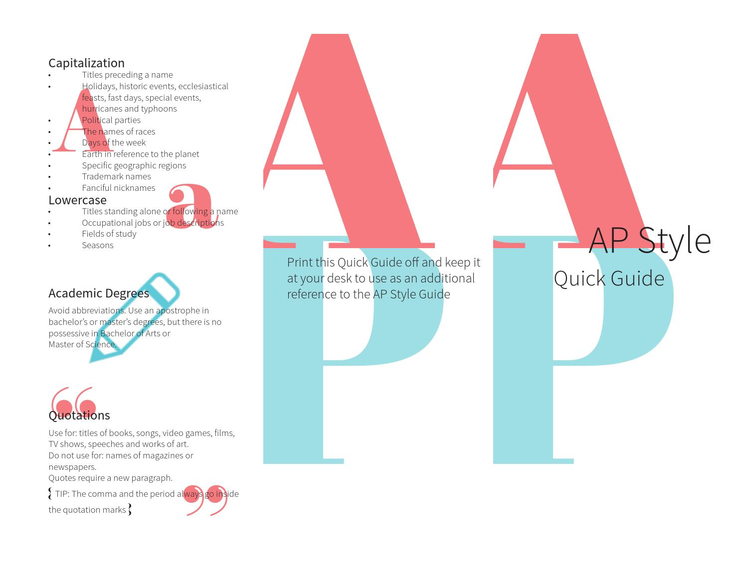 Ap Style Quotes Ap Style Quick Guide Brochurevmr0005  Issuu