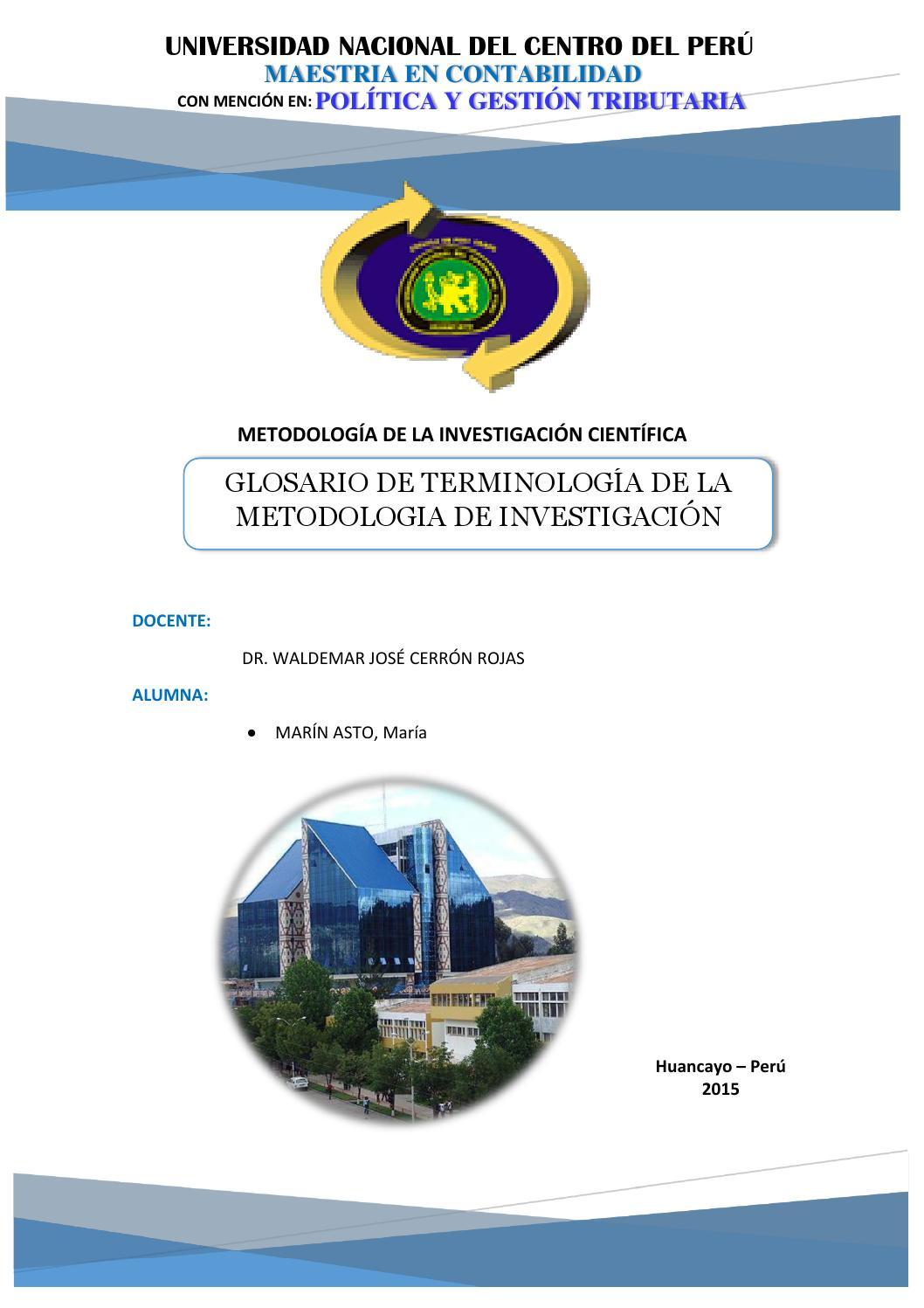 GLOSARIO - METODOLOGIA DE INVESTIGACIÓN by Princesa_Maria - issuu