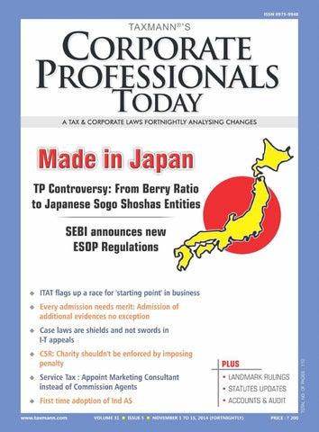 Indian Transfer Pricing and Japanese Sogo Shosha