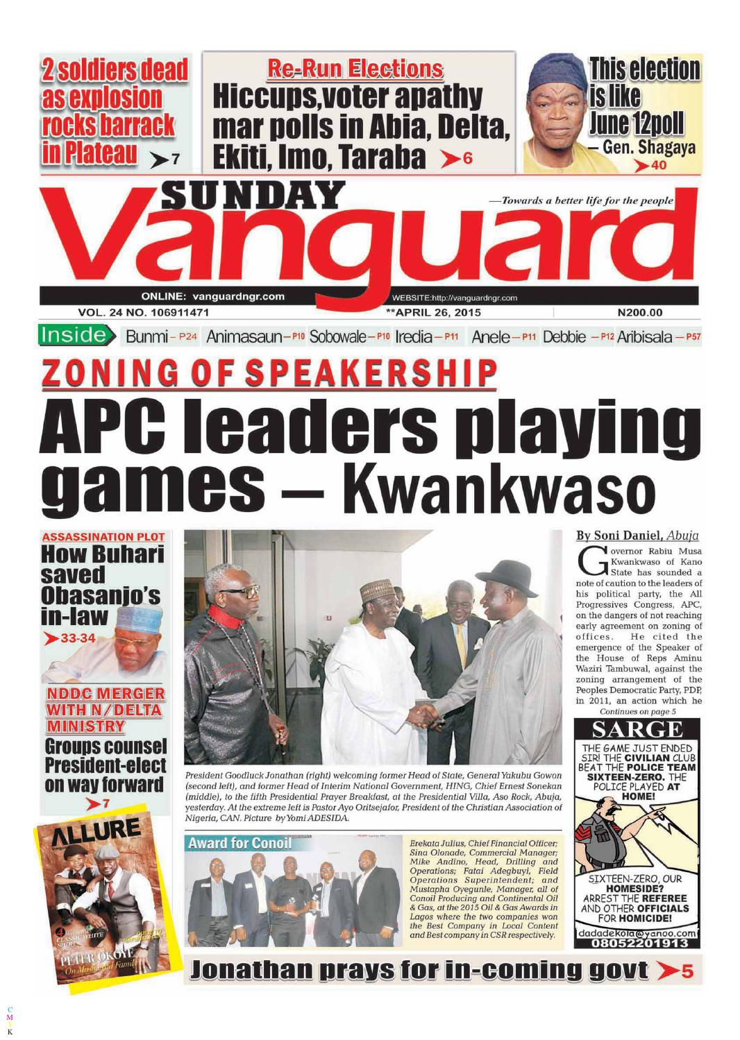 apc leaders playing games - kwankwaso by vanguard media limited