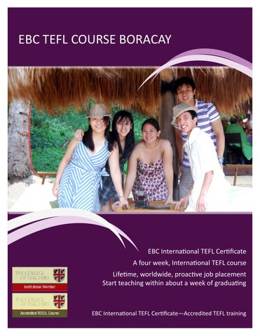 boracay tefl course, teach english in the philippines by ebc ...