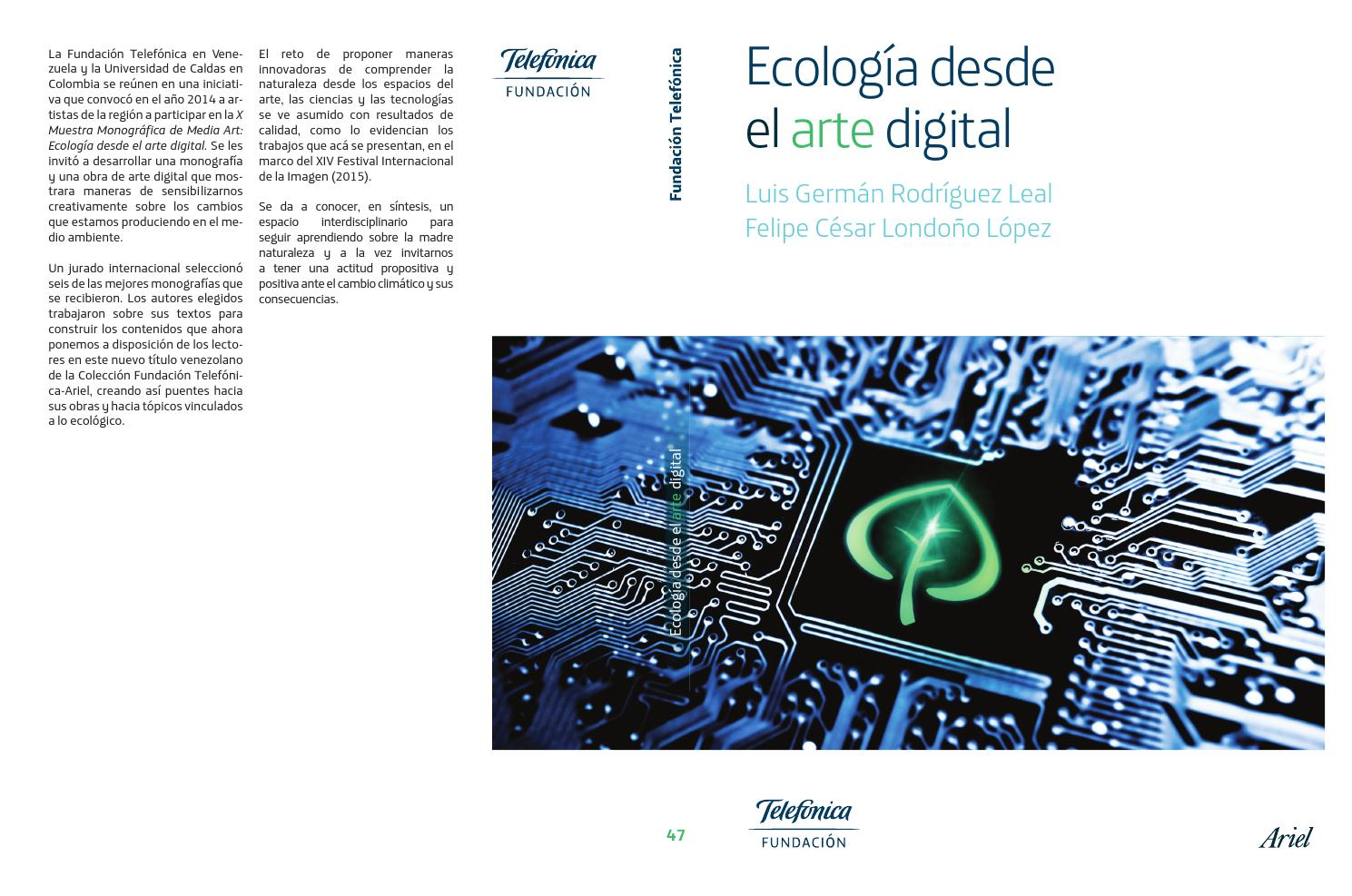 Ecologia desde el arte digital by Patricia Dominguez - issuu