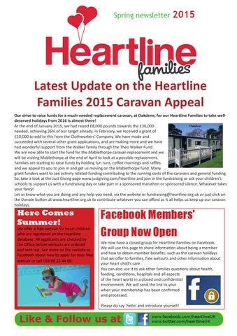 Heartline Families Spring 2015 Newsletter