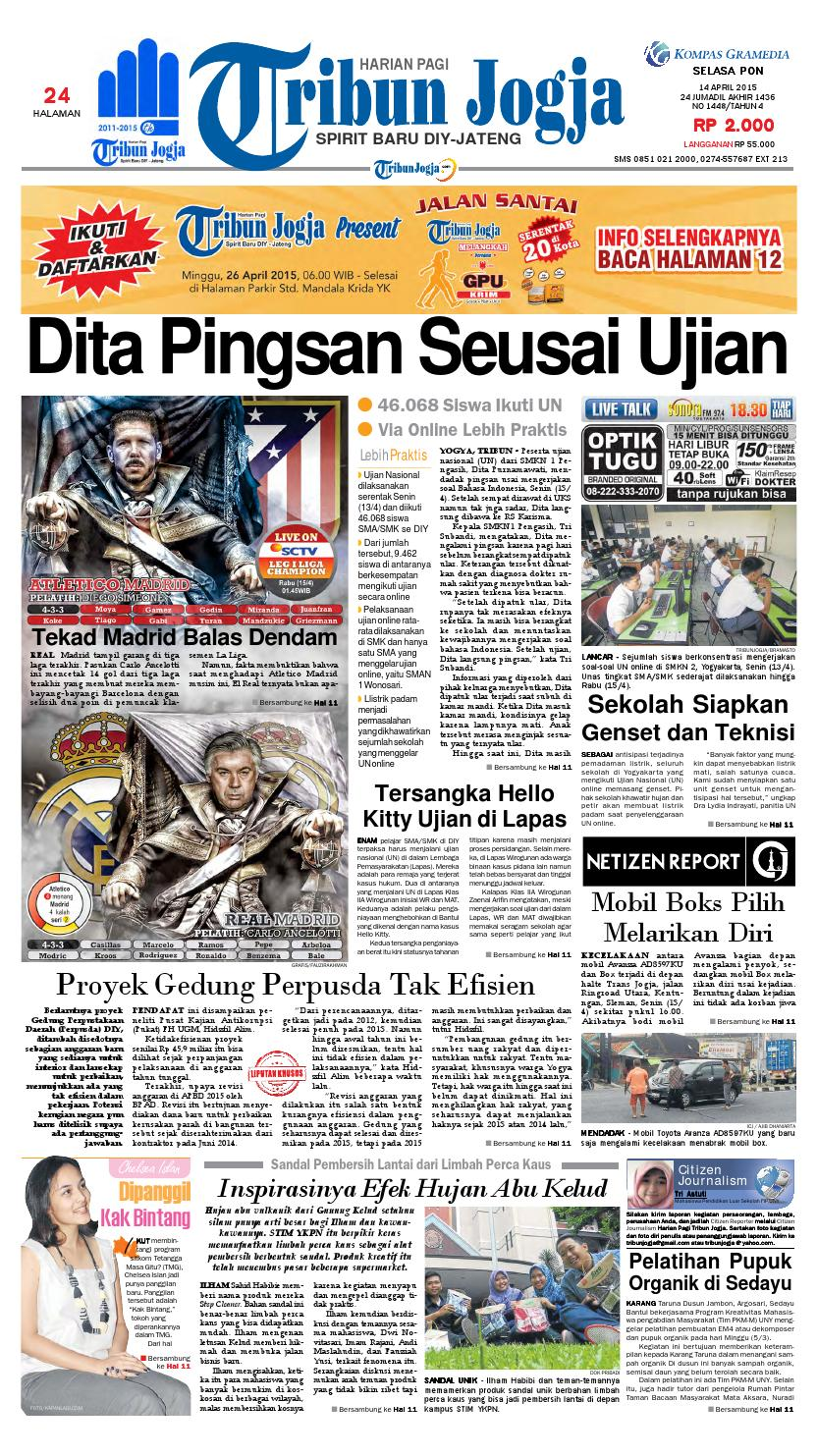 Tribunjogja 14 04 2015 By Tribun Jogja Issuu Produk Ukm Bumn Permen Tape Ladida